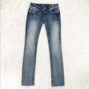 Miss Me signature straight leg jeans size 26